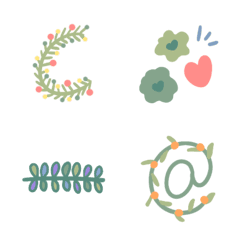 อิโมจิไลน์ Everyday Emojis: Botanical Style