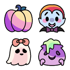 Cute Colorful Halloween emoji