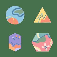 อิโมจิไลน์ Shapes and Pattern