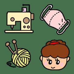 Handicraft supplies and girls