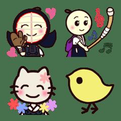 Naginata doll Emojis.
