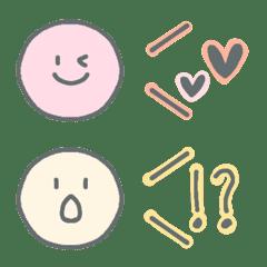 simple emoticon pastel colors
