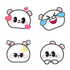 White Cute Polar Bear Emoji