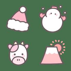 Winter pink emoji