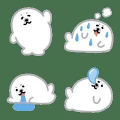 Cute white seal emoji 3