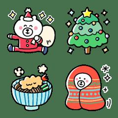 My favorite bear emojis in winter.