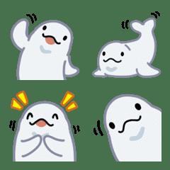 Cute Beluga whale emoji 3