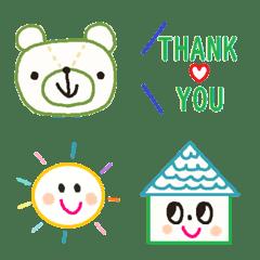 อิโมจิไลน์ Various emoji 996 adult cute simple