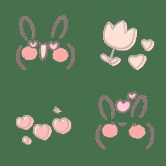 cute pastel rabbit face