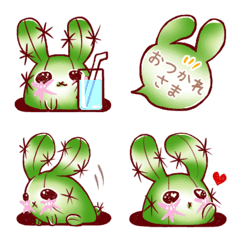 Cactus rabbit USABOsan Emoji 2