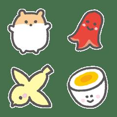 Various everyday emoji