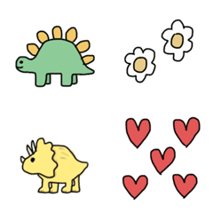 colorful dinosaurs Emoji.
