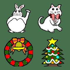 Christmas of whitish animals.