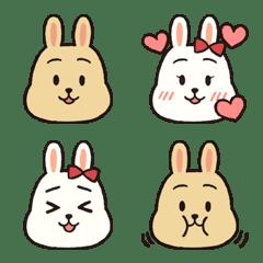 Soft rabbit emoji