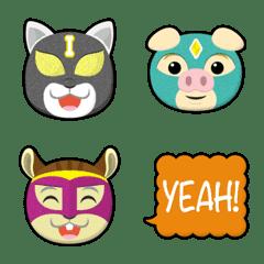 animal pro wrestling maskman emoji 3
