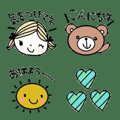 Various emoji 1003 adult cute simple