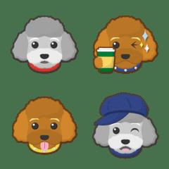 gray & red toy poodle emoji
