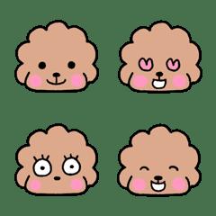 toy poodle vivi emoji 3