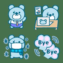 Cute Blue Bear Emoji