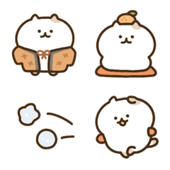Entertaining cat emoji(winter)