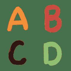 濕水彩英文字母ABC
