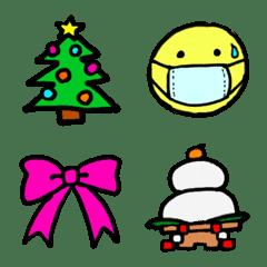 Winter colorful emoji