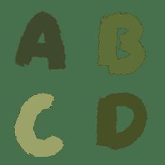綠色英文字母ABC81