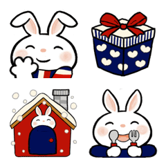 Usa-pyon emoji (winter ver.)