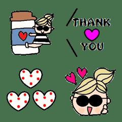Various emoji 1023 adult cute simple