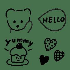 Teddy bear simple emoji