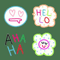 Various emoji 1029 adult cute simple
