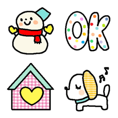 อิโมจิไลน์ Various emoji 1036 adult cute simple