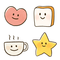 cute and warm Emoji with a face