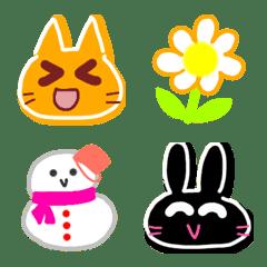 Cute animals Emoji like a cookie 4th.