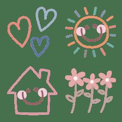 Useful adorable pink beige basic emoji2