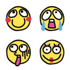 Comical emoticons. Clear and simple
