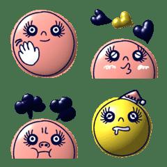 อิโมจิไลน์ Pink&yellow balloon!