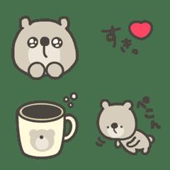 อิโมจิไลน์ Brown bear Emoji daily
