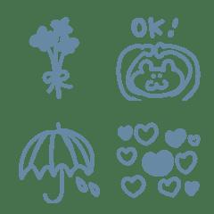 Simple emoji blue