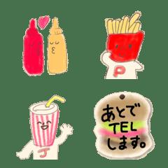 อิโมจิไลน์ junk foods