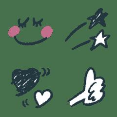 อิโมจิไลน์ Black and red emoji 2