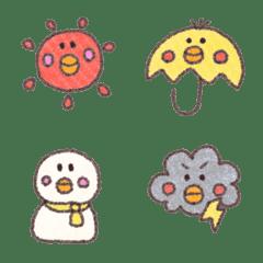 อิโมจิไลน์ Weather of Oribon-Hiyoko