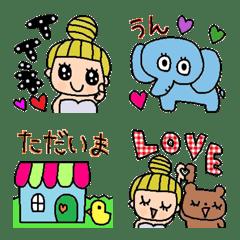 (Various emoji 95 adult cute simple)