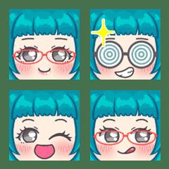 Full face emoji(Girl ver4)