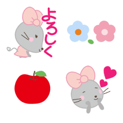 Ribbon-shaped ears Mouse Emoji