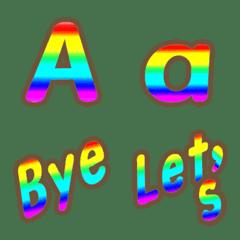 The rainbow alphabet English emoji