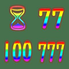 The rainbow dekomoji suji emoji 2