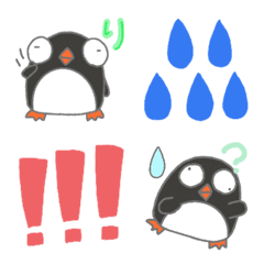 Penguin emoji colorful
