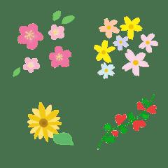 Colorful floral emoji7