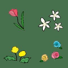 Colorful floral emoji8
